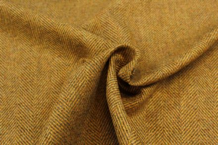100% Pure New Wool Large Herringbone Tweed Fabric BZ46